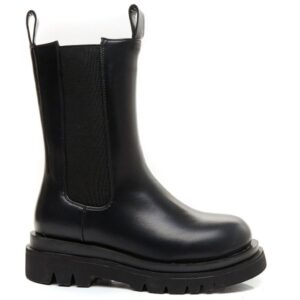 Chunky dame støvle xz00263 - Black