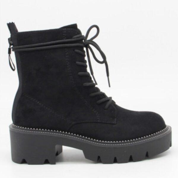 Ideal Shoes dame støvle 6206 - Black
