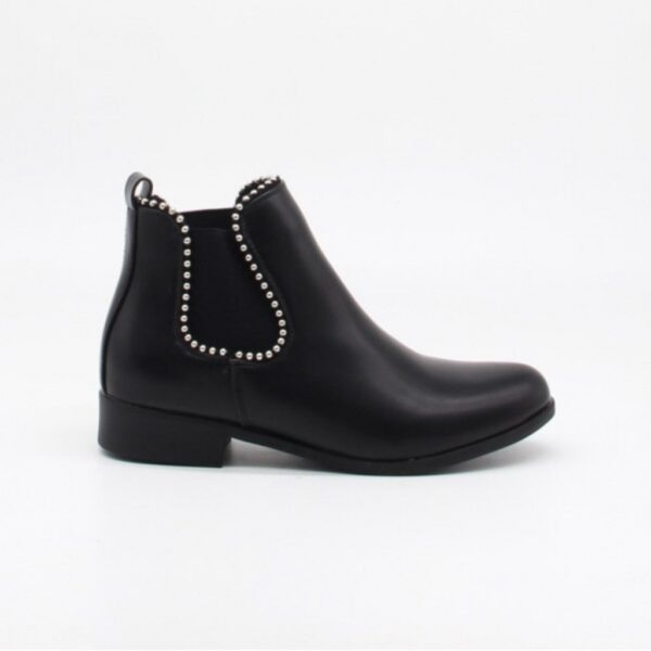 Ideal Shoes dame støvle 8160 - Black
