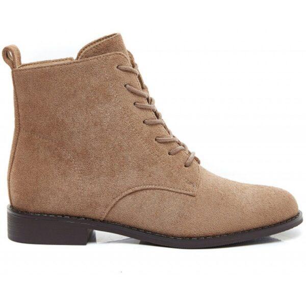 Ideal Shoes dame støvle 8322 - Khaki
