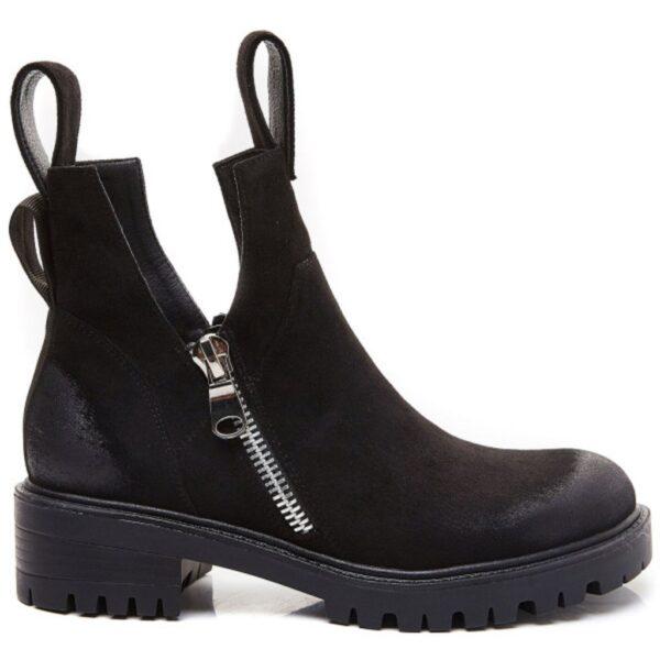 Ideal Shoes dame støvle 8361 - Black