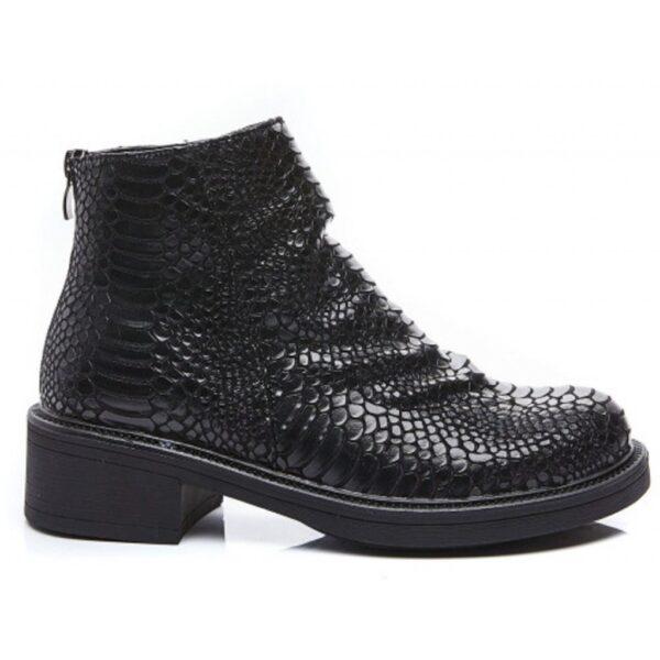 Ideal shoes dame støvle 1900 - Black