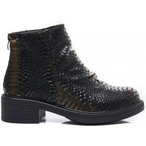 Ideal shoes dame støvle 1900 - Black/gold
