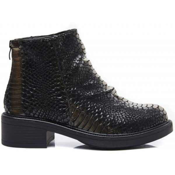 Ideal shoes dame støvle 1900 - Black/gold