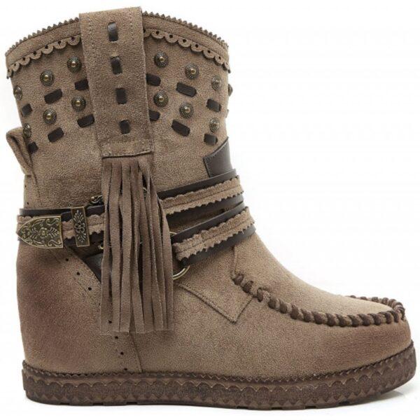 Ideal shoes dame støvle 1981A - Khaki