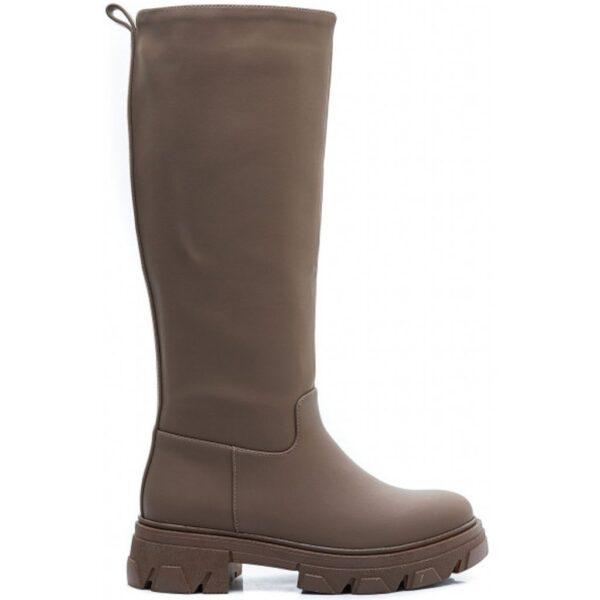 Ideal shoes dame støvle 7755A-2 - Khaki