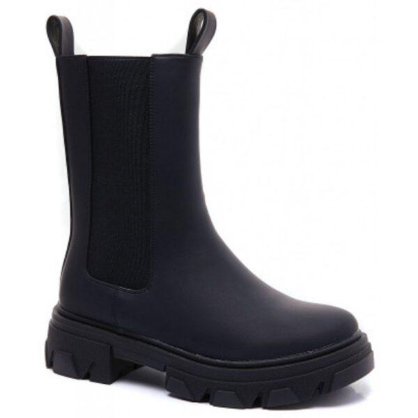 Ideal shoes dame støvle 7772A - Black
