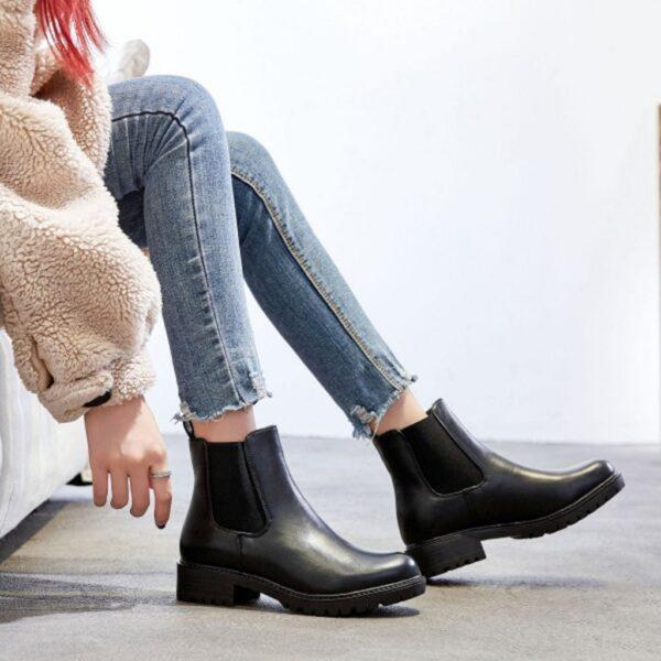 Ideal shoes dame støvle 8318 - Black