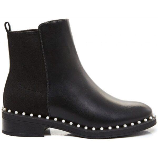 Ideal shoes dame støvle 8336 - Black