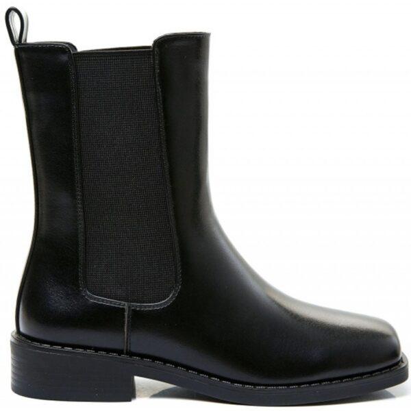 Ideal shoes dame støvle 8339 - Black