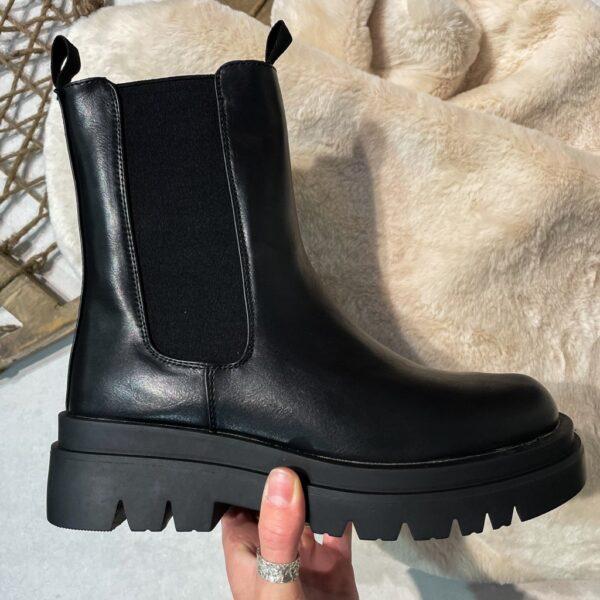 Ideal shoes dame støvle JKD-109 - Black