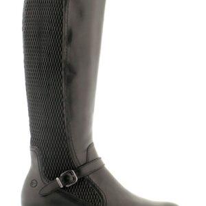 Tamaris langskaftet støvle, (Sort)
